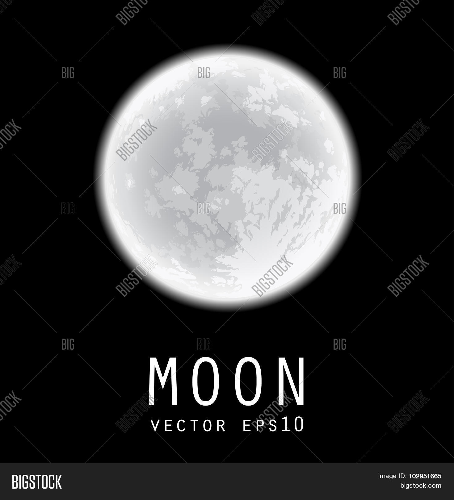 Full Moon Drawing Black And White Full Moon Freehand Vector Photo Free Trial Bigstock