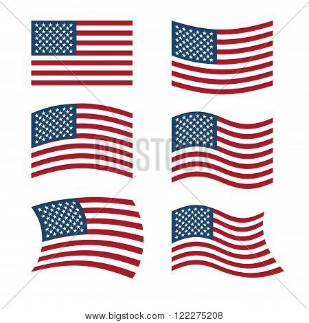 Flag Usa Set Flags Vector  Photo (Free Trial) Bigstock