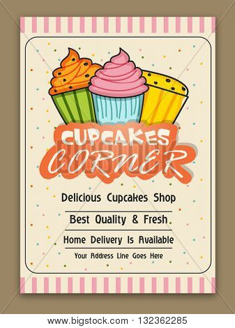 Cupcakes Corner Template, Cupcake Vector  Photo Bigstock