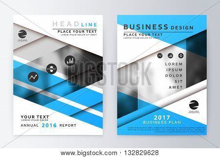 Blue Annual Report Vector  Photo (Free Trial) Bigstock