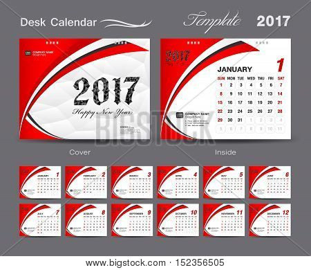 Set Red Desk Calendar Vector  Photo (Free Trial) Bigstock