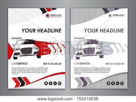 A5, A4 Service Car Business Card Vector  Photo Bigstock