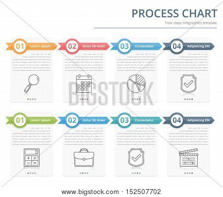 Process Chart, Flow Vector  Photo (Free Trial) Bigstock