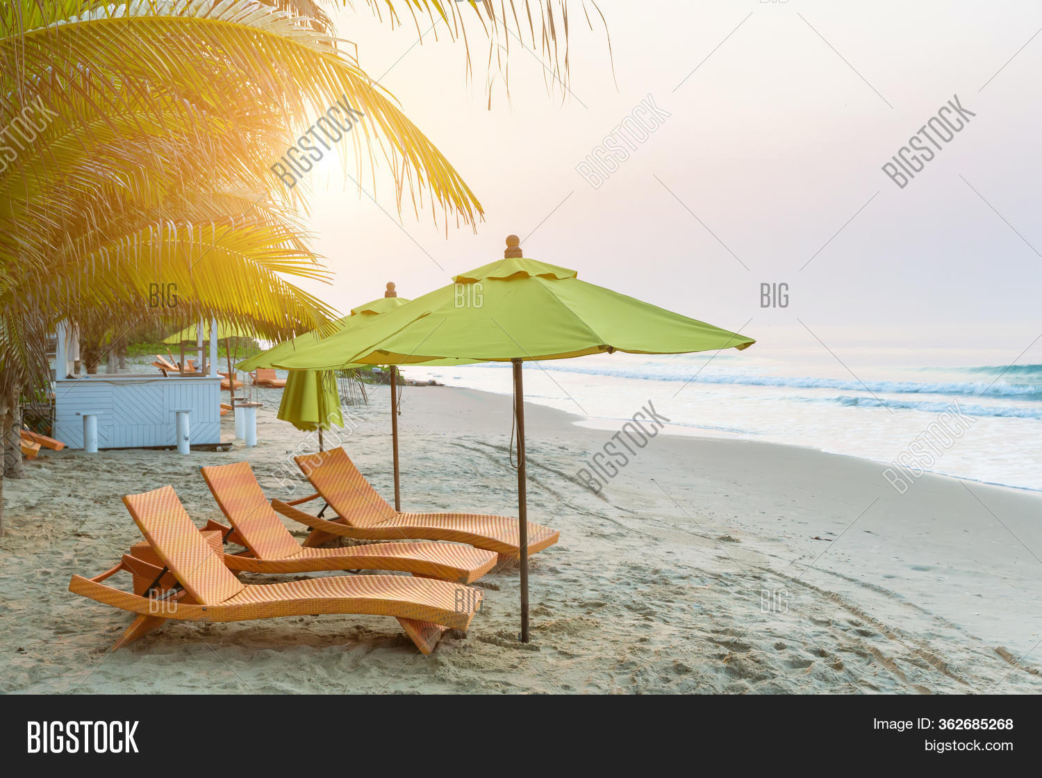Beach Chair Under Big Image Photo Free Trial Bigstock