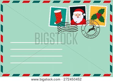 Dear Santa, Envelope Vector  Photo (Free Trial) Bigstock