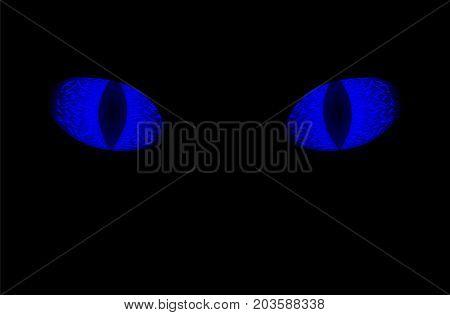 Glowing Blue Eyes Vector  Photo (Free Trial) Bigstock