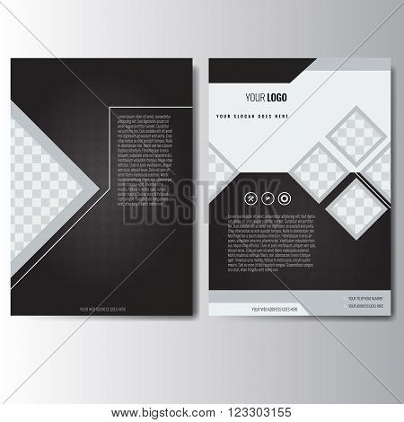 Creative White Black Vector  Photo (Free Trial) Bigstock - black flyer template