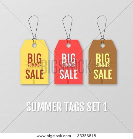 Summer Tags Set Big Sale Tag Vector  Photo Bigstock - sale tag template