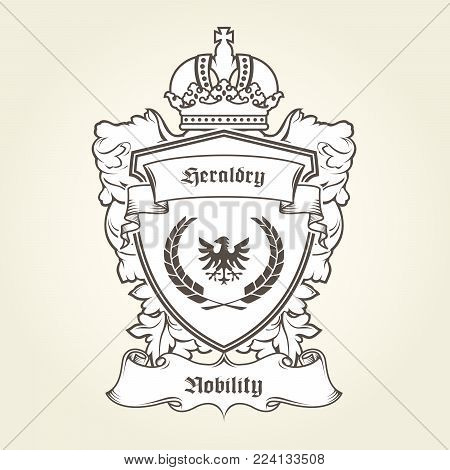 Coat Arms Template Vector  Photo (Free Trial) Bigstock