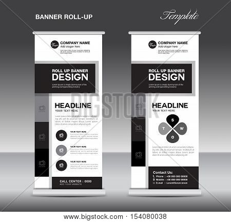 Black White Roll Vector  Photo (Free Trial) Bigstock - black and white flyer template