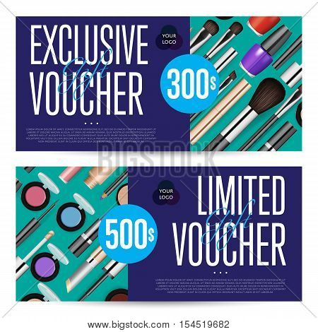 Cosmetic Voucher Vector  Photo (Free Trial) Bigstock