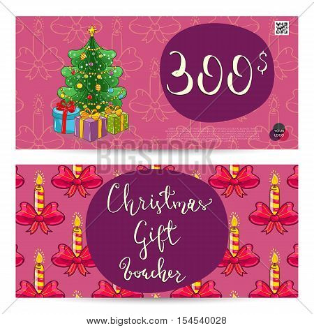 Christmas Voucher Vector  Photo (Free Trial) Bigstock - christmas gift vouchers templates