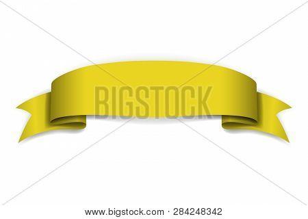 Yellow Ribbon Banner Vector  Photo (Free Trial) Bigstock
