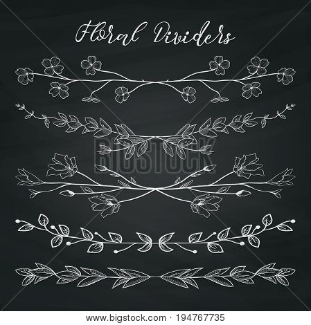 Chalk Drawing Doodle Vector  Photo (Free Trial) Bigstock - chalk borders