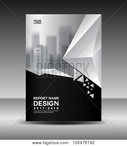 Cover Design Annual Vector  Photo (Free Trial) Bigstock - black and white flyer template