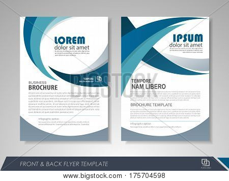 Modern Blue Brochure Vector  Photo (Free Trial) Bigstock
