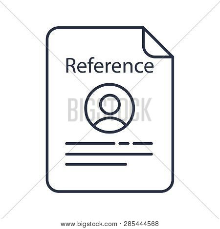 Reference Letter Vector  Photo (Free Trial) Bigstock