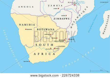 Southern Africa Vector  Photo (Free Trial) Bigstock