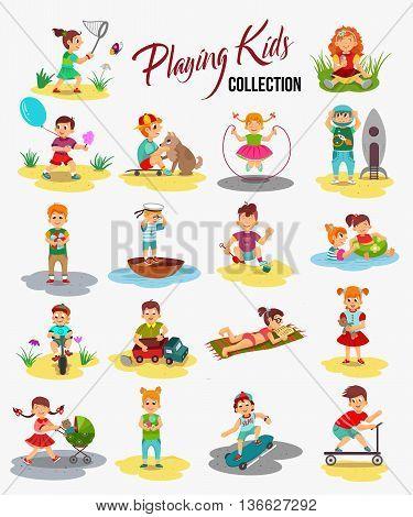 Vector Children Vector  Photo (Free Trial) Bigstock - cartoon children play