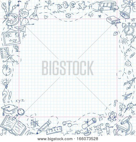Back School Freehand Vector  Photo (Free Trial) Bigstock