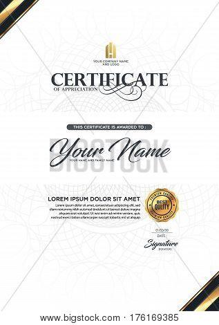 Certificate Vector Luxury Template Vector  Photo Bigstock - certificate layout