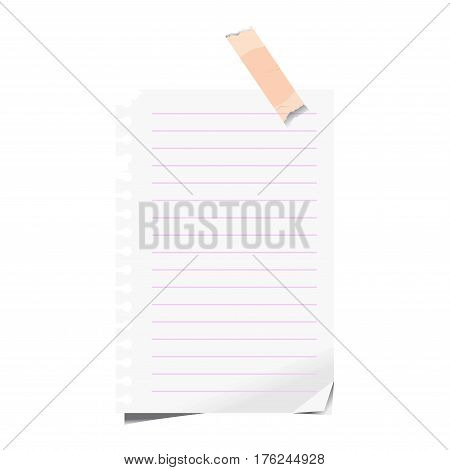 Blank Paper Lined Vector  Photo (Free Trial) Bigstock