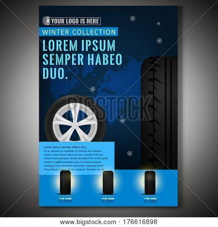 Vector Tyre Poster Template Vector  Photo Bigstock - editable poster templates