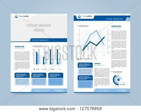 Brochure Layout Vector  Photo (Free Trial) Bigstock - annual report template design