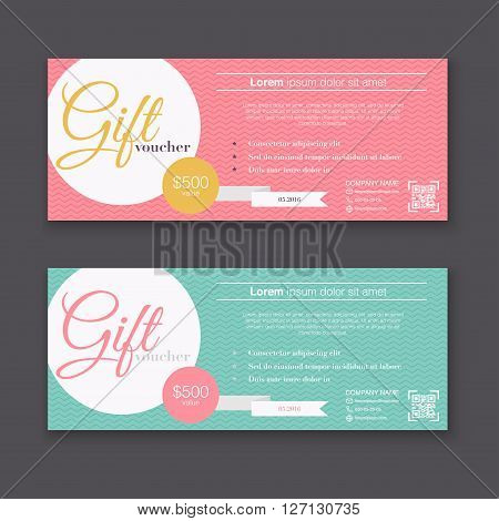 Gift Voucher Template Colorful Vector  Photo Bigstock - gift certificate voucher template