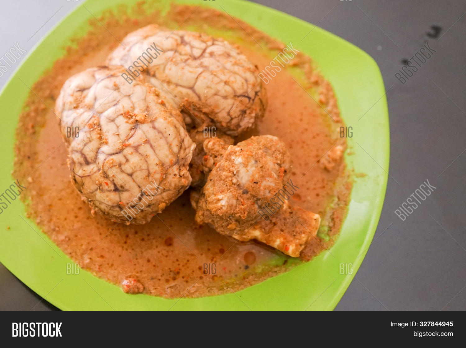 Whole Cow Brain Padang Image Photo Free Trial Bigstock