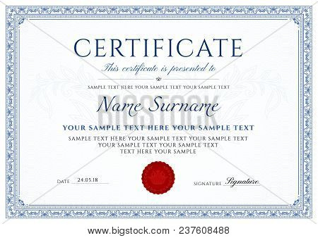 Certificate Background Images, Illustrations  Vectors (Free) - Bigstock