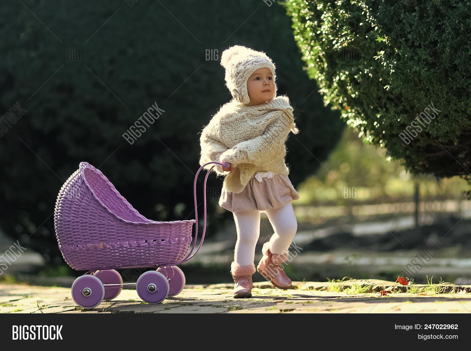 Vintage Toy Stroller Child Childhood Image Photo Free Trial Bigstock