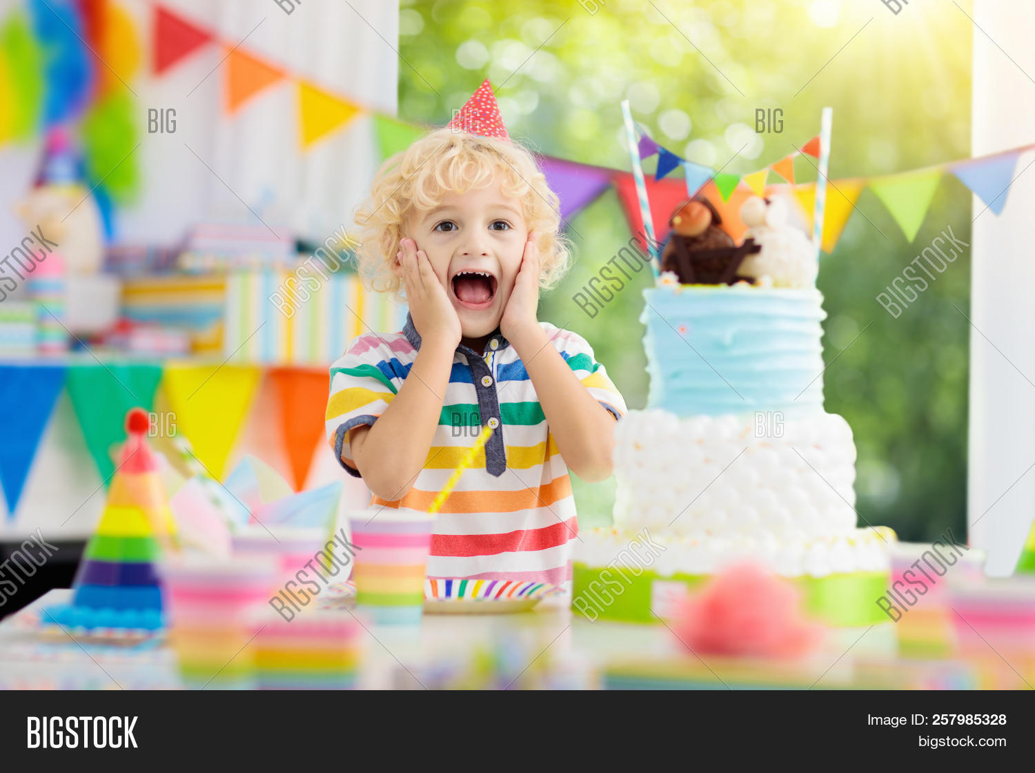 Little Kid Birthday Party Kids Birthday Party Image Photo Free Trial Bigstock