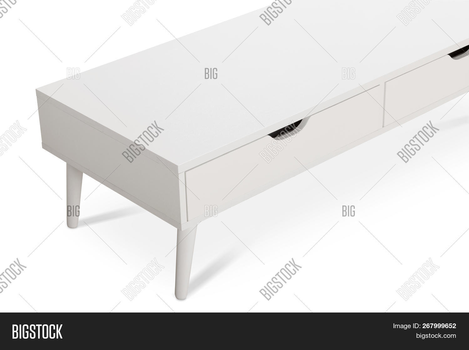 Bureau Commode White Wooden Tv Stand Image Photo Free Trial Bigstock