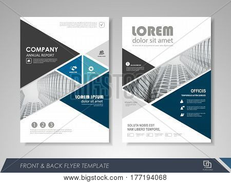 Modern Blue Brochure Vector  Photo (Free Trial) Bigstock