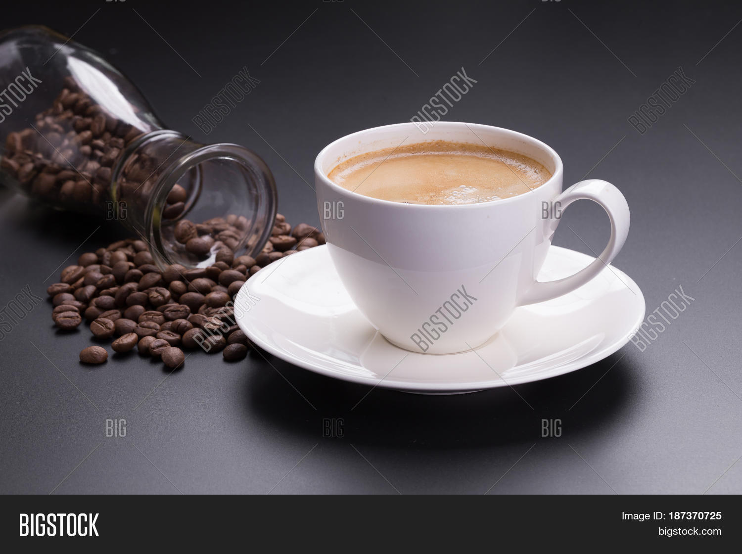 Americano Coffee English Hot Americano Coffee White Glass On Image And Photo Bigstock
