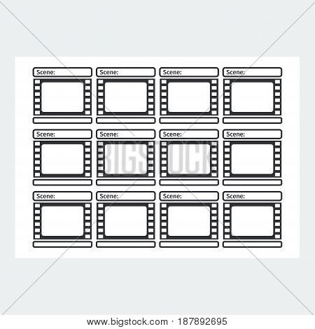 Storyboard Template Form Film Vector  Photo Bigstock