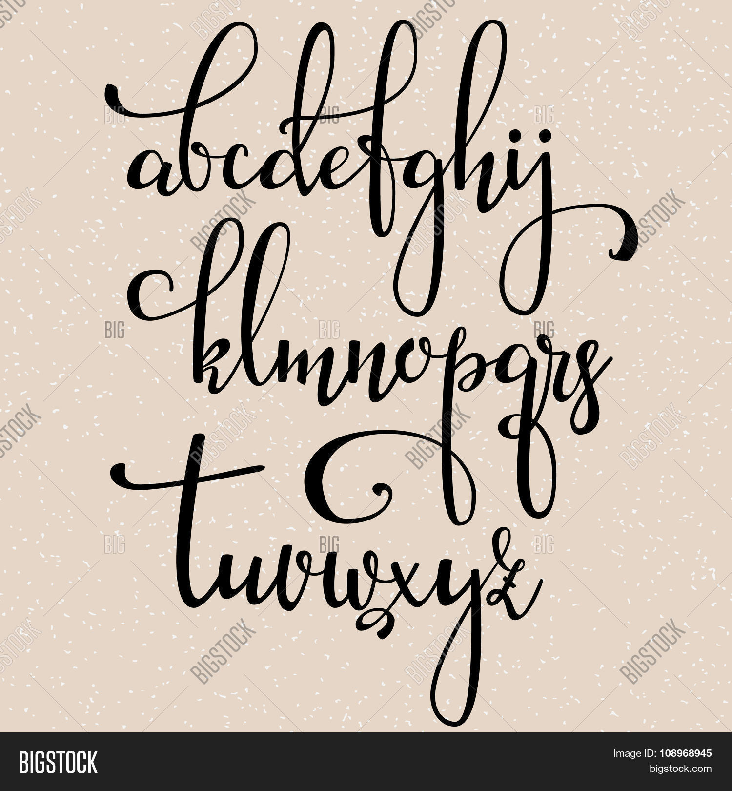 Calligraphy Font Modern Free Handwritten Brush Vector Photo Free Trial Bigstock