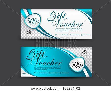 Blue Gift Voucher Vector  Photo (Free Trial) Bigstock