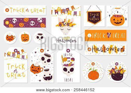 Set Halloween Gift Vector  Photo (Free Trial) Bigstock