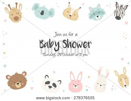 Baby Shower Vector  Photo (Free Trial) Bigstock