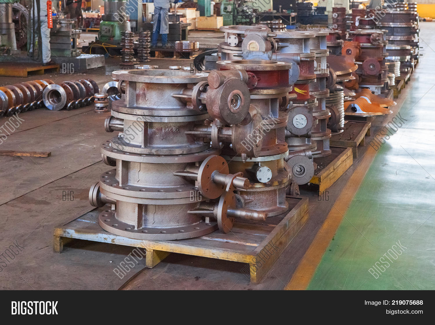 Industrial Forging Heap Valve Bodies Image Photo Free Trial Bigstock