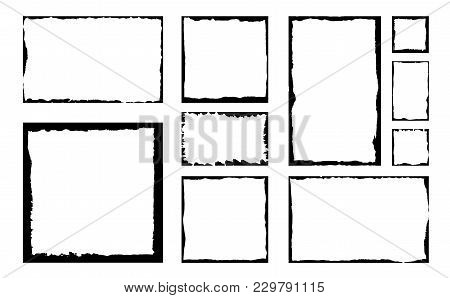 Set Grunge Square Vector  Photo (Free Trial) Bigstock