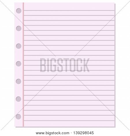 Notebook Paper Vector Vector  Photo (Free Trial) Bigstock - notepad paper template
