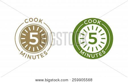 Cook 5 Minutes Clock Vector  Photo (Free Trial) Bigstock