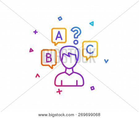 Quiz Test Line Icon Vector  Photo (Free Trial) Bigstock