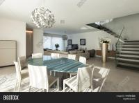 Interior of a modern apartment, comfortable living room ...