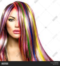 Colorful Hair Makeup. Beauty Image & Photo | Bigstock