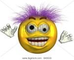 Crazy Face Emoticon
