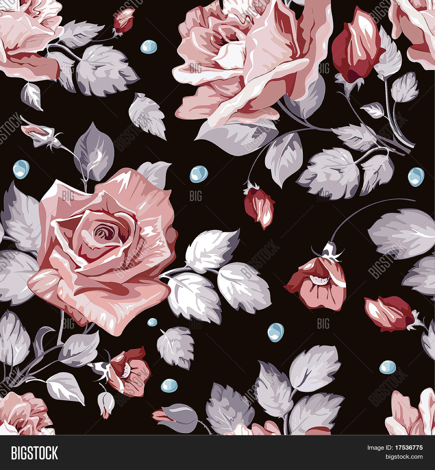 3d Blossoms Live Wallpaper Elegance Seamless Wallpaper Vector Amp Photo Bigstock